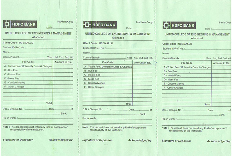 Download BANK PAY IN SLIP – Pay Slip Download